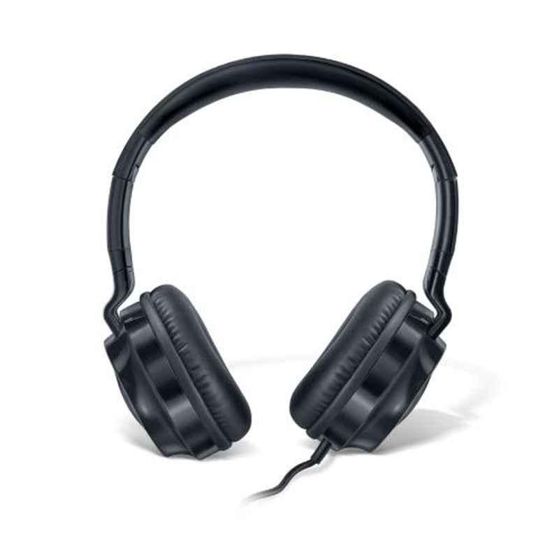 Fingers Superstar H6 Piano Black Wired Headphone with Built-In Mic