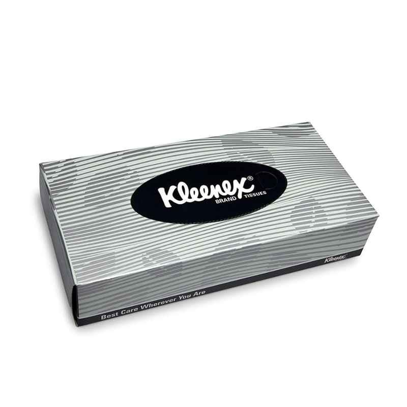 Kleenex 100 Pieces 2 Ply Facial Tissue Flat Box, 1033 (Pack of 60)