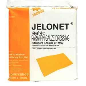 Smith & Nephew 10x10cm Jelonet Paraffin Gauze Dressing (Pack of 20)