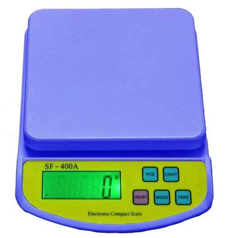 Virgo 10kg Blue Digital Kitchen Multi-Purpose Weighing Machine, SF-400A BLUE