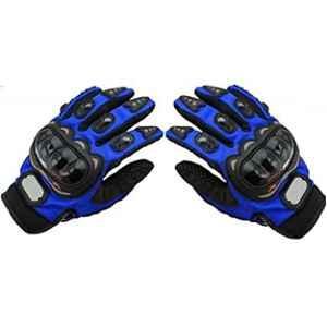 AOW Pro Biker Riding Gloves (Blue, xL Size)