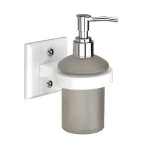 Axtry Wall Mounted Acrylic White Liquid Soap Dispenser