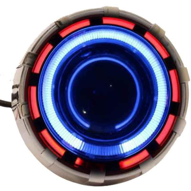 Love4ride 35W White & Blue Projector Headlights for Two Wheeler