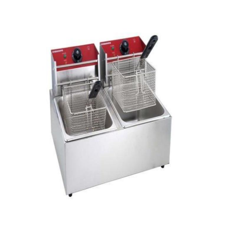 JMKC 17kg Deep Fryer/French Fryer Double Electric & Gas, Capacity: 5 & 5 L