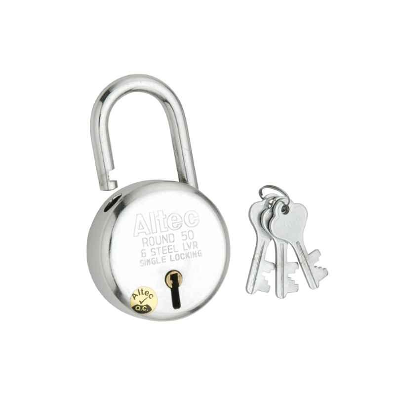 Smart Shophar 50mm Steel Silver X-Premium Padlock, SLK80PD-XPRE-SL50-P1