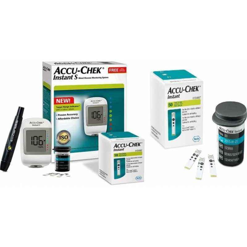 Accu-chek Instant S Meter Glucometer with 60 Instant Test Strips