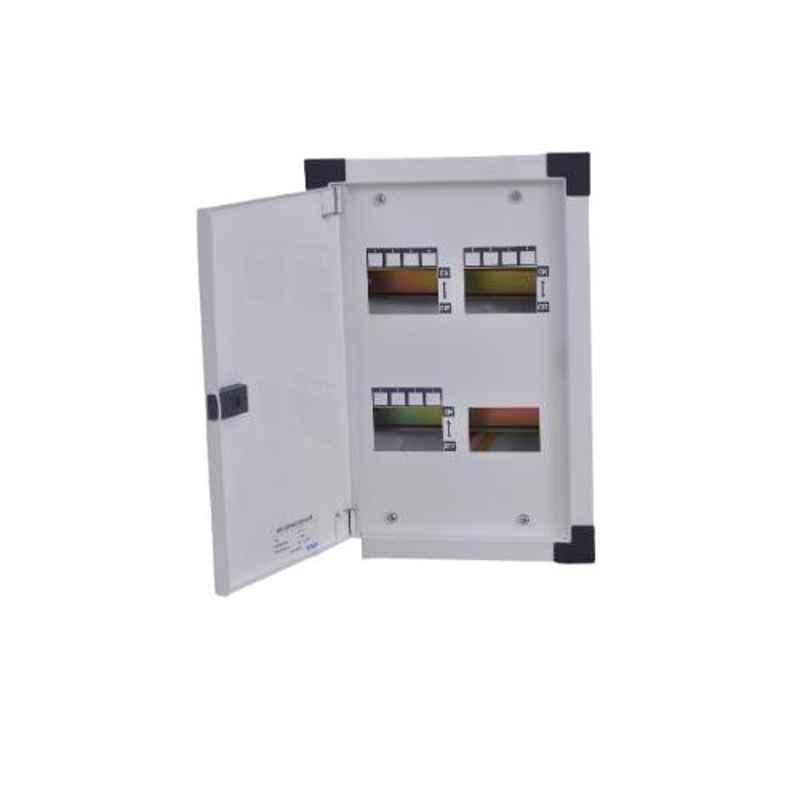 One World Electric 6 Ways Double Door CRCA Steel Horizontal TPN Distribution Board, OWEHTPNDD0006