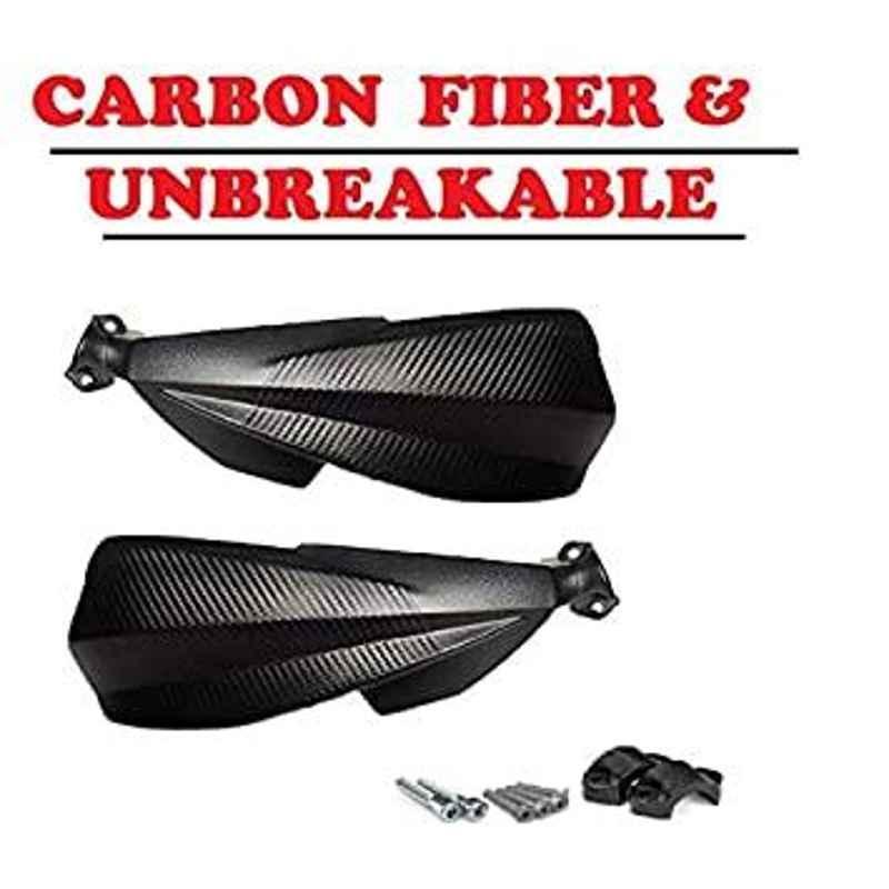 AOW Carbon Fibre Scratchproof Unbreakable Handle bar Handguard for KTM Duke All Models (Black) T-3
