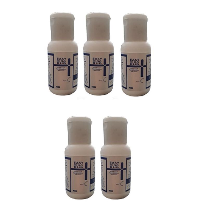 Easy Go Rub 30ml 75% Isopropyl Alcohol (IPA) Gel Based Hand Sanitizer (Pack of 5)