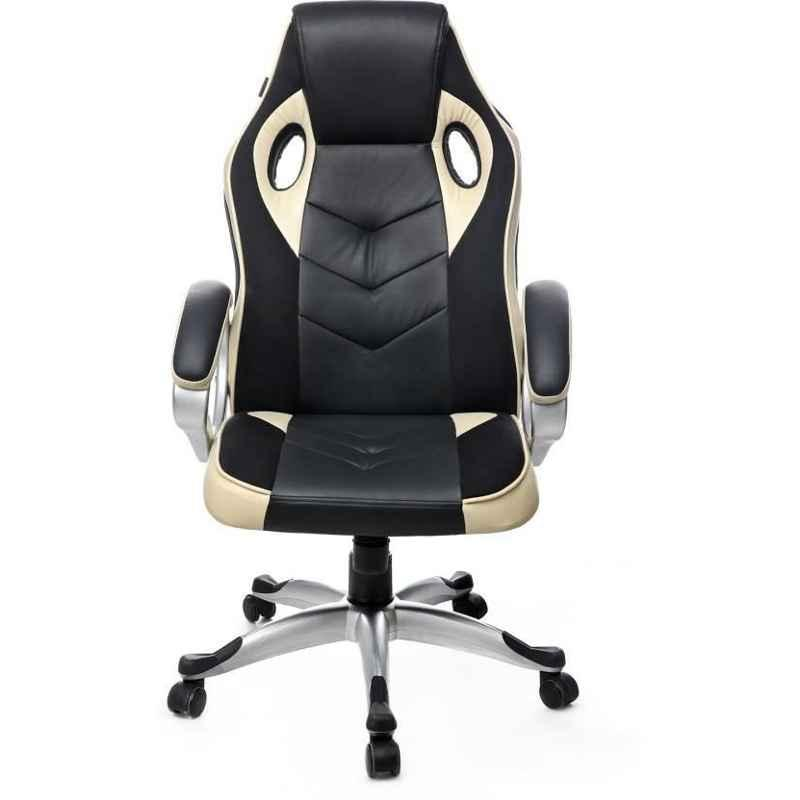 Caddy 558.8x482.6x1016mm Brown Leather Gaming Ergonomic Chair with Headrest, MISG1