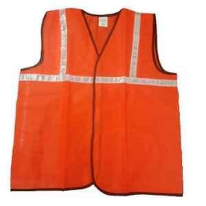 Shree Rang 1 inch Extra Large Orange Reflective Jacket, KH03