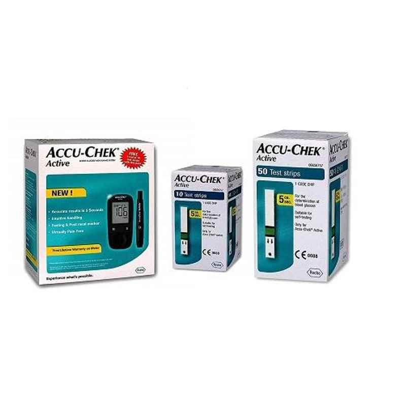 Accu-Chek Active Glucometer with 50 Strips
