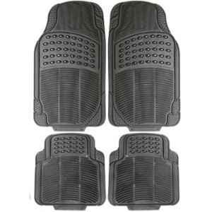 Love4ride 4 Pcs Black Rubber Car Floor Mat Set for Maruti Zen