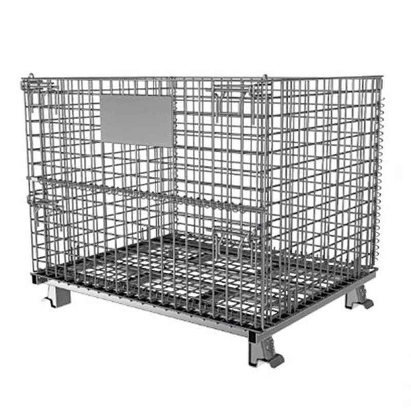 Bigapple 500kg Stainless Steel Material Handling Cage Trolley, TRL-SPH-ROLL-CONTAINER-500KG