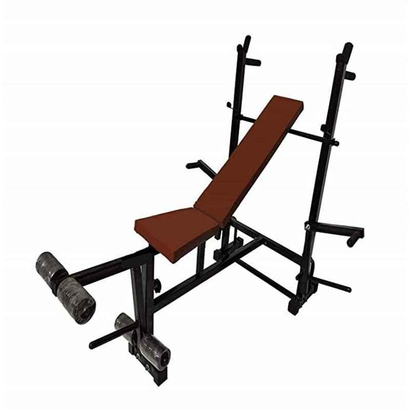 Spanco Multipurpose Weight Lifting Bench, (Incline/Decline/Flat/Leg Exerciser/Lats Excerciser/Dips Stand/Push Up Stand)- 130kg Holding Capacity for Full Body Workout of Home Gym