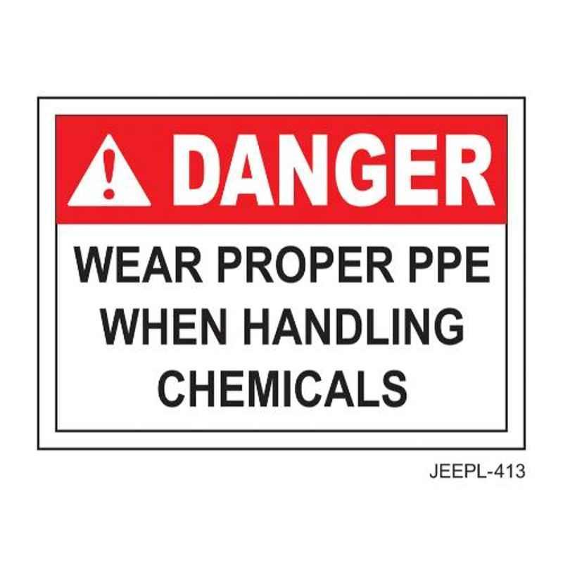 Jeepl Danger Wear Proper PPE Sticker, jeepl-413