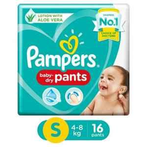 Pampers 16 Pcs Small Baby Pant Style Diaper (Pack of 8)