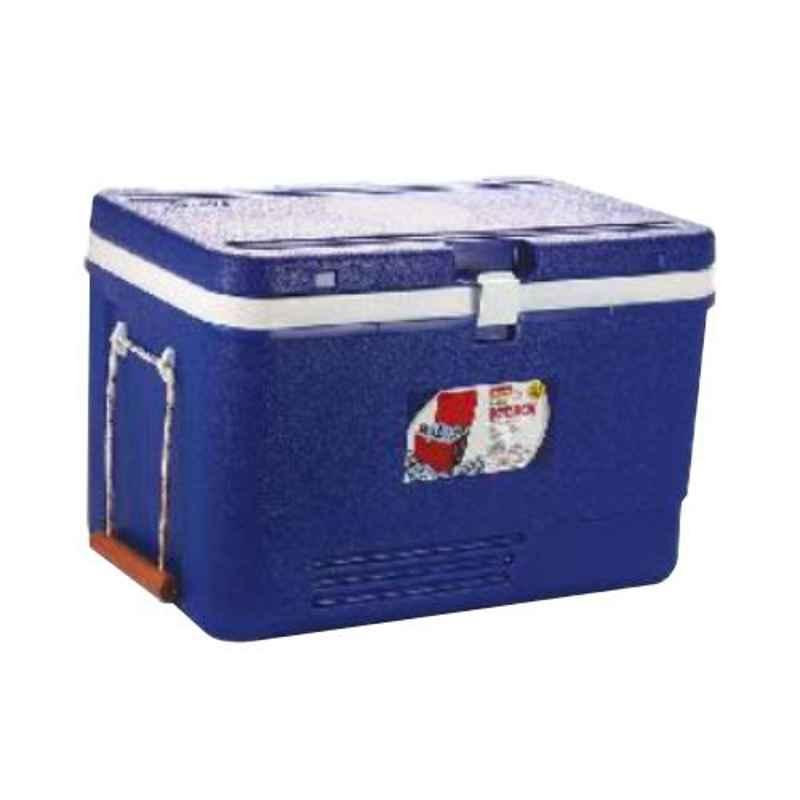 Aristo 60L Blue Plastic PUF Insulated Ice Box with Wheel