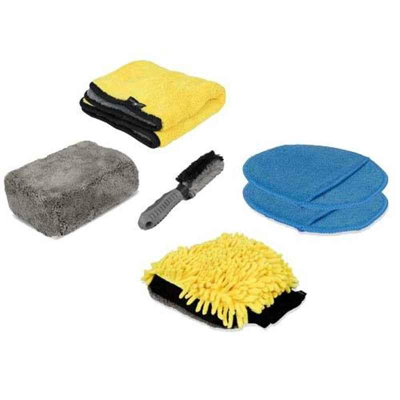 AllExtreme AEFLD14 3 Pcs 3 in 1 Exterior & Interior Car Wash Cleaning Tool Kit