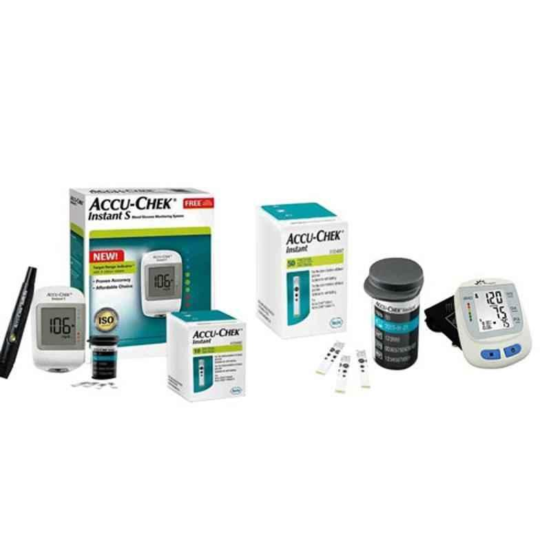 Dr. Morepen BP-09 Blood Pressure Monitor & Accu-Chek Instant S Meter Glucometer with 60 Test Strips