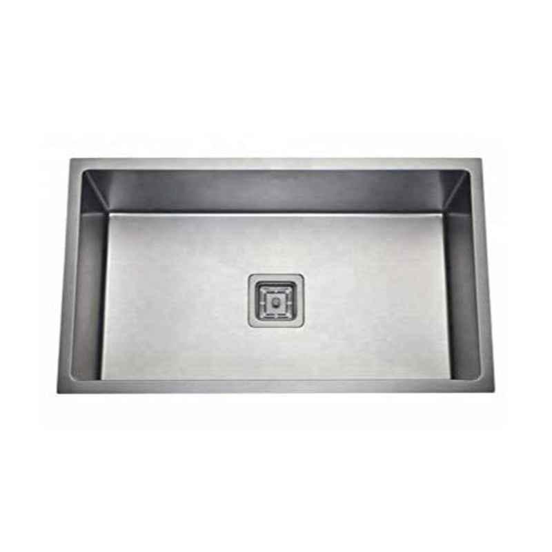 Crocodile 32x20x10 inch Single Bowl Stainless Steel Diamond Cut Kitchen Sink, CR-13