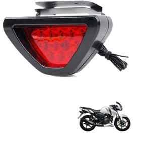 Viva City 12 LED Black & Red Plastic Triangle Shape Bile Brake Light with Flash Mode