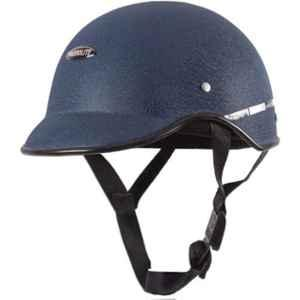 Habsolite HB-MWB2 Mini Wrinkle Blue Safety Helmet With Quick Release Strap, Size: Free Size