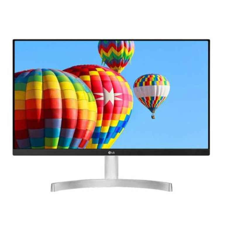 LG 27 inch White Borderless HD Color Calibrated IPS Monitor, 27MK600