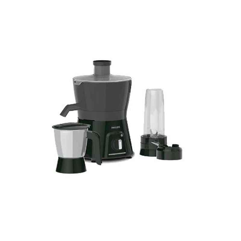 Philips 600W Carbon Black & Cashmere Grey Juicer Mixer Grinder with 3 Jars, HL7579
