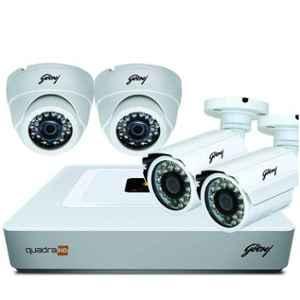 Godrej SeeThru Full HD CCTV Camera Kit without Hard Disk, Godrej1MP2DOME2BULLET
