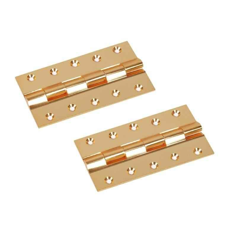 Smart Shophar 6x1.25x2 inch Brass Gold Railway Hinge, SHA10HG-RAIL-GL6X1.25X2-P2 (Pack of 2)