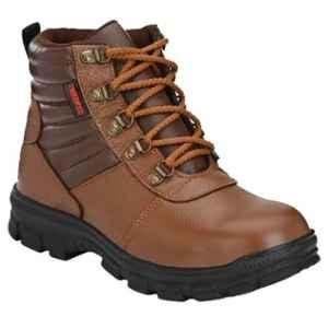 Timberwood TW60BBRN Leather Steel Toe Brown Safety Shoe, Size: 9