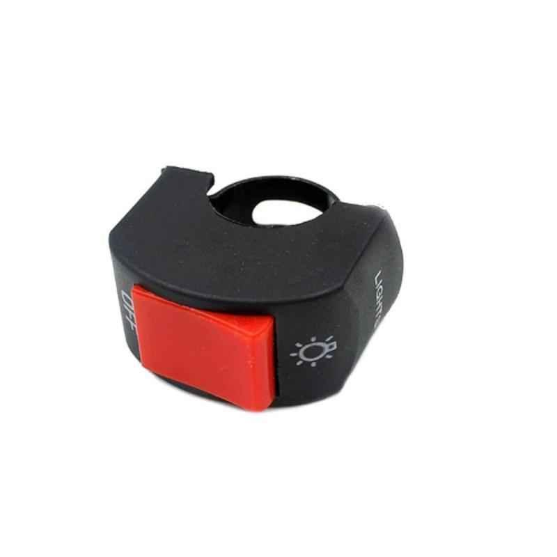 AllExtreme EXHMSR1 7/8 inch 12VDC Handlebar Mounting Red Fog Lamp Switch for Head Light Electrical System