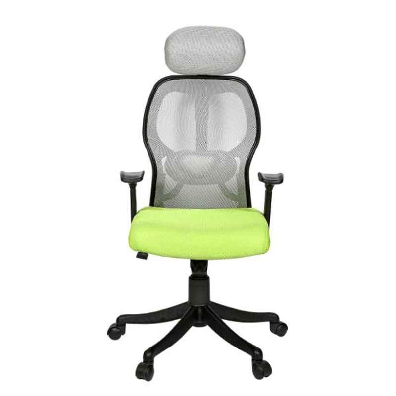 Regent Matrix Net & Metal High Back Green & Grey Mesh Chair
