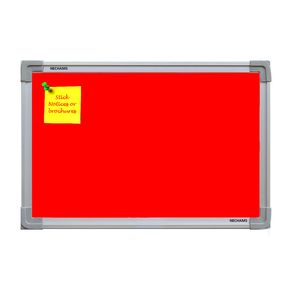 Nechams Notice Board Economy Combo Color Red NBRED42TF