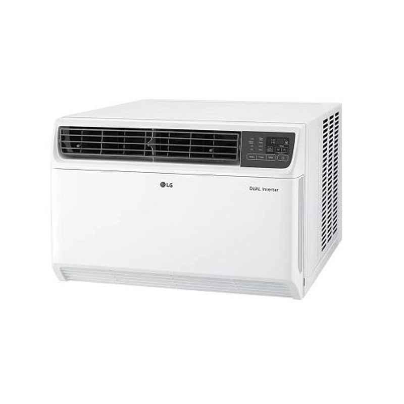 LG 1.5 Ton 5 Star Dual Inverter White Window AC with Ocean Black Protection, JW-Q18WUXA1