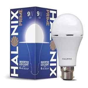 Halonix Prime 9W B22 Cool Day White Rechargeable Inverter LED Bulb, HLNX-INV-9WB22