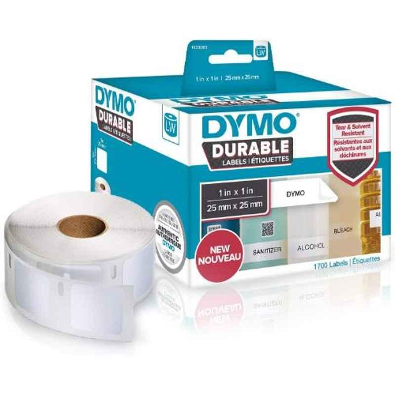 Dymo 1933083 2 Pcs 1x1 inch White Polypropylene Direct Thermal Label Writer Roll Box, Capacity: 850 Labels Each