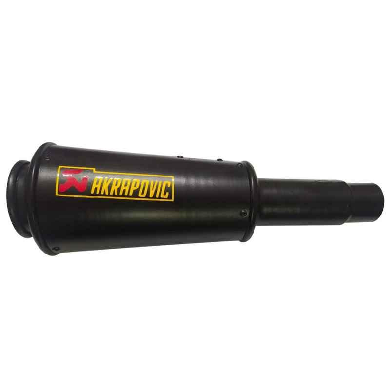RA Accessories Black Akra povic Silencer Exhaust for Bajaj Discover 135 DTSi