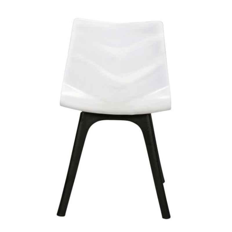 Regent Diamond Shell Plastic White Chair
