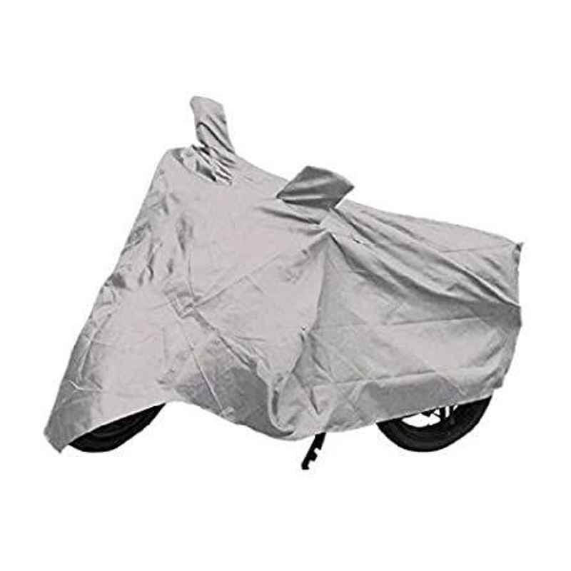 Mobidezire Polyester Silver Bike Body Cover for Bajaj Discover 100 DTS-i (Pack of 2)