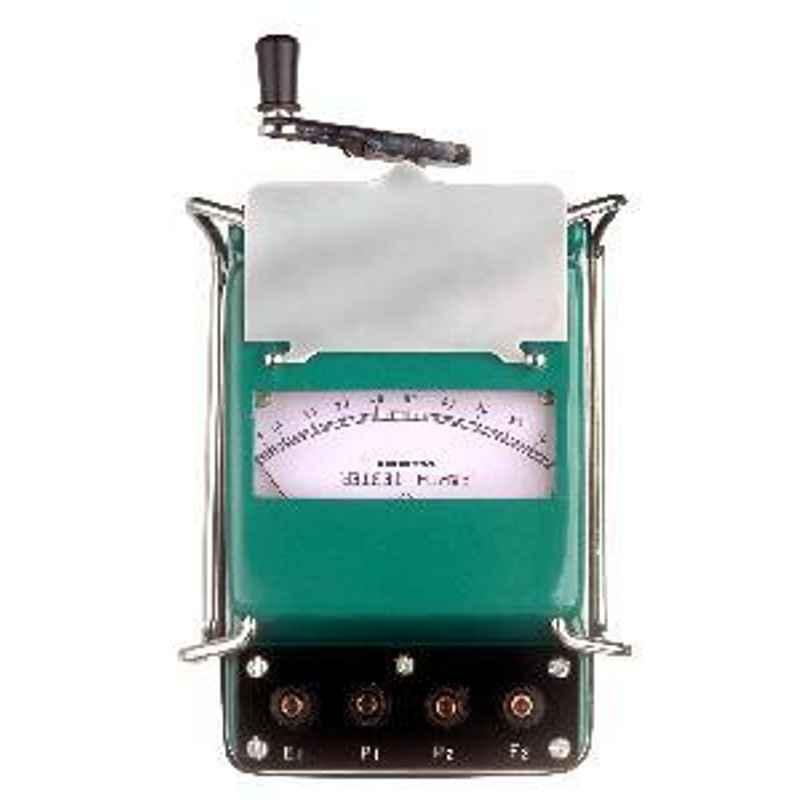Waco 0-1-10-100-1,000-10,000 Ohm Five Range Metal Body Analogue Earth Tester