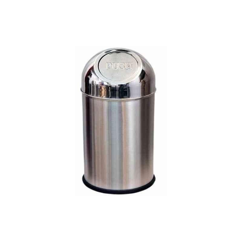 SBS 60 Litre Stainless Steel Push Can Bin, Size: 12x28 inch