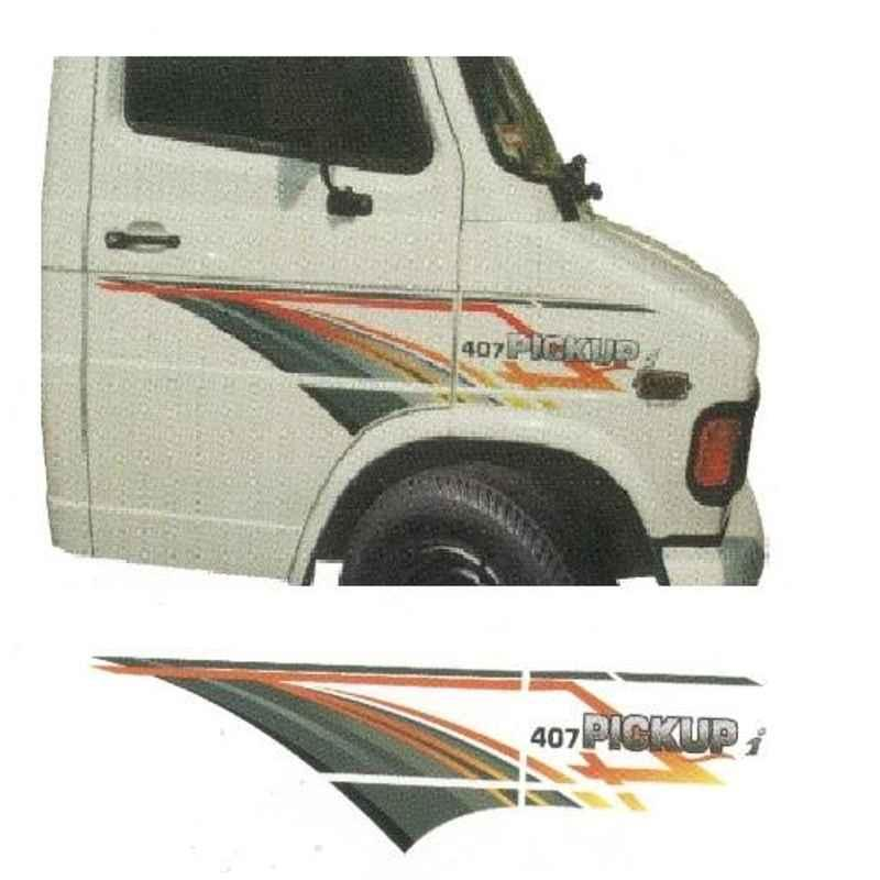 Galio Red & Black Graphics Car Sticker Set for Tata 407, GL-187R
