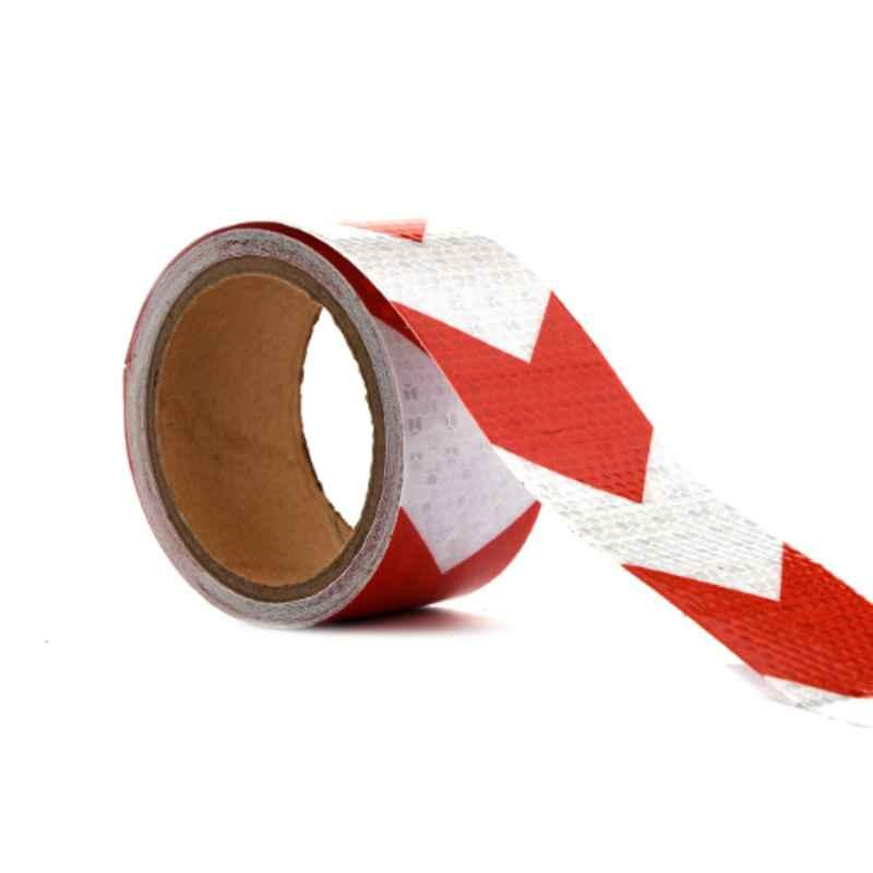 Darit ES-34 5cm White & Red Self Adhesive Waterproof Arrow Reflective Tape, Length: 5 m
