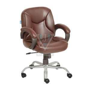 VJ Interior 17x16.5x17 inch Adjustable Getone Mid Back Leather Office Chair, VJ-1638