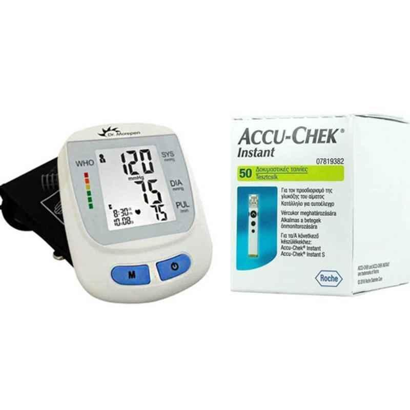 Dr. Morepen BP-09 Blood Pressure Monitor & Accu-Chek Instant 50 Test Strips