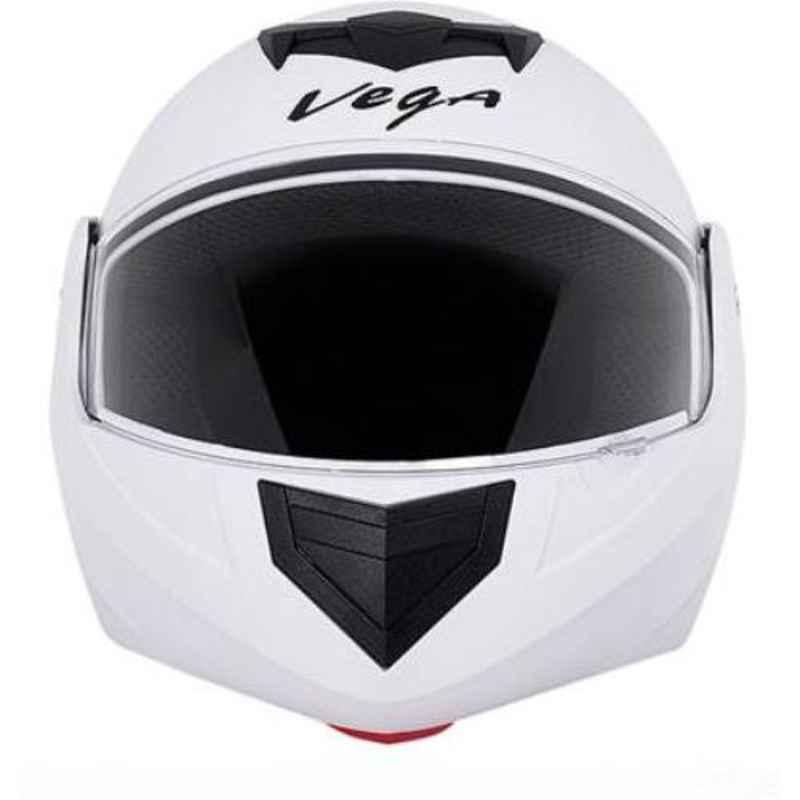 Vega Crux White Full Face Motorbike Helmet, Size (L, 580 mm)