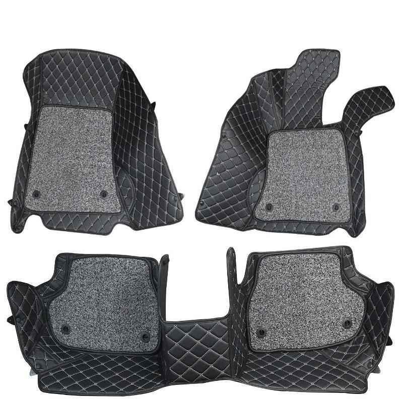 Komfort 3 Pieces 7D Black Foot Mat Set for Hyundai i10 Grand