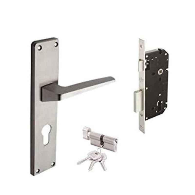 Godrej NEH 15 200mm 1CK Satin Steel Door Handle with Lock Set, 5986